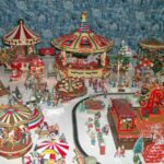 Hundreds of Christmas villages on display, including a Dickens Christmas Village. Many joyous scenes, such as The Wharf & The Carnival.