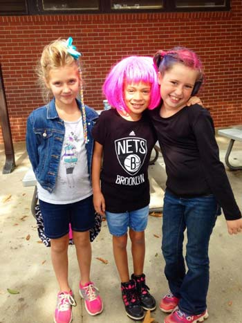 Edge Elementary Red Ribbon Week wacky hair day.
