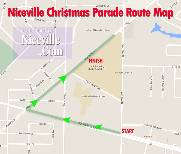 Niceville Christmas Parade Map