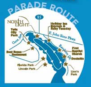 Niceville Christmas Boat Parade Route Map