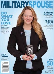 Vista Bartholomew and her business, VistaPix Media, have been featured in Military Spouse Magazine.