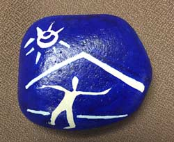 rock painting cic niceville
