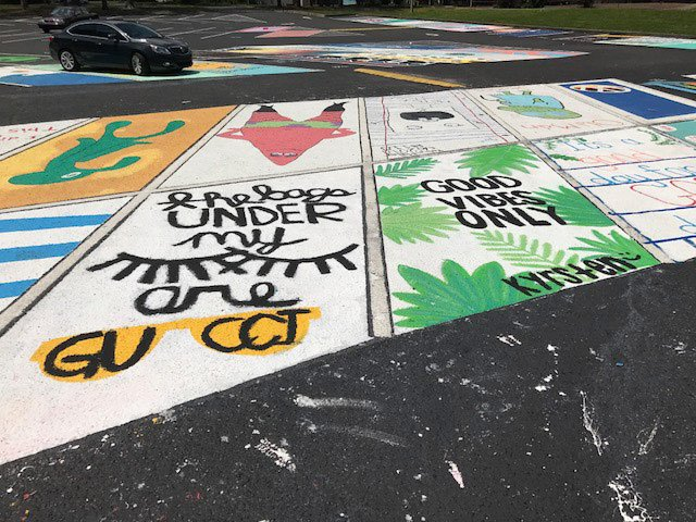 niceville high school parking lot art 2017