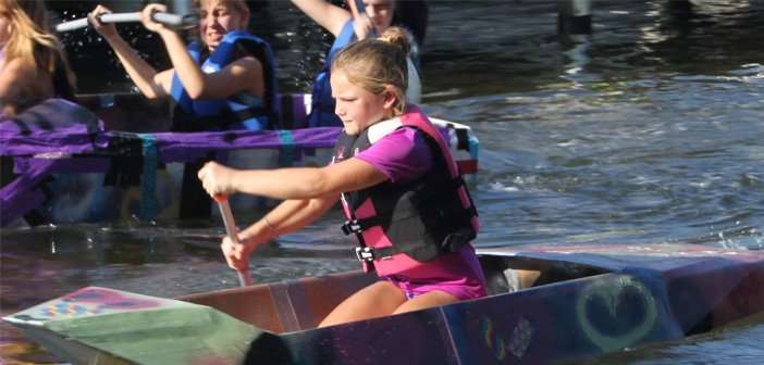 Winners and photos from Bluewater Bay Marina's Cardboard Boat Race 2014