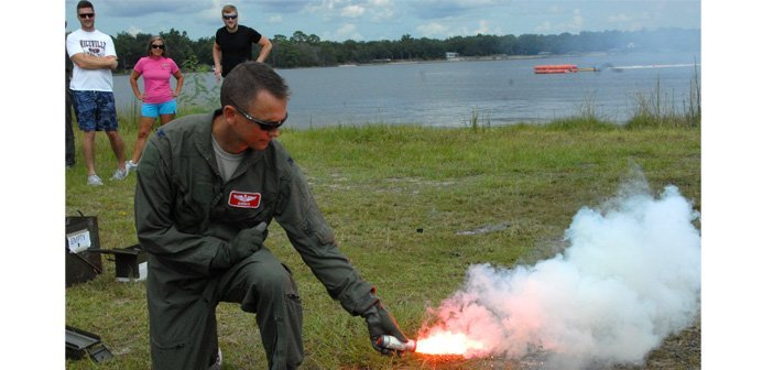 Eglin honorary commanders receive water survival training