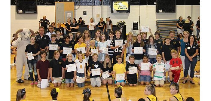 Ruckel Middle School celebrates student success on FCAT with pep rally