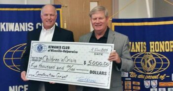 The Kiwanis Club of Niceville - Valparaiso recently presented a $5,000 donation to Children in Crisis, Niceville FL
