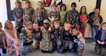 Edge Elementary School in Niceville, Camo Day.