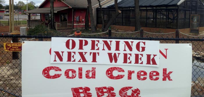 Cold Creek BBQ in Niceville to open this week