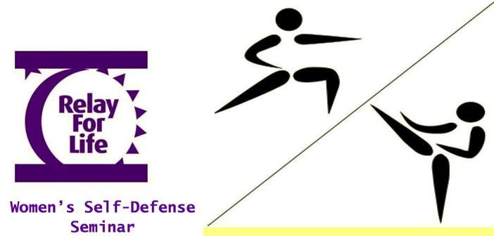 Women's Self-Defense Seminar, Relay for Life, Niceville FL