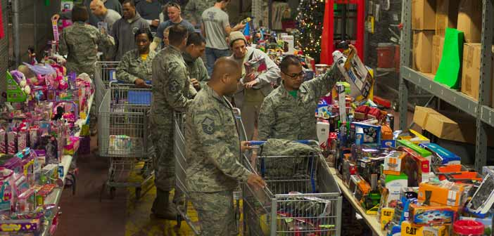 Christmas Toy Distribution Eglin Air Force Base FL