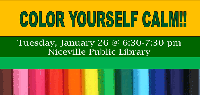 adult coloring niceville library