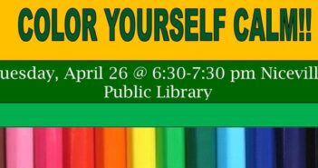 Niceville Library color yourself calm