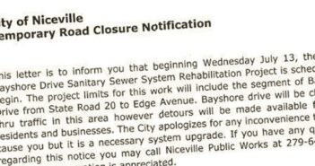 Bayshore Drive Closed Niceville