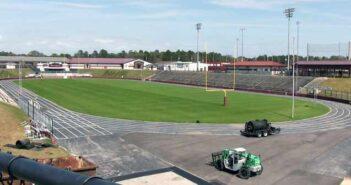 Niceville High School Rubber Track installation