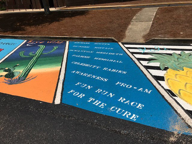 niceville high school parking lot art 2017