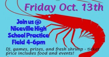 Pre-game shrimp boil tailgate party Oct. 13
