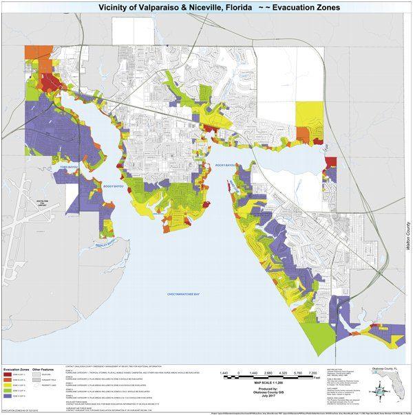 niceville hurricane evacuation zones