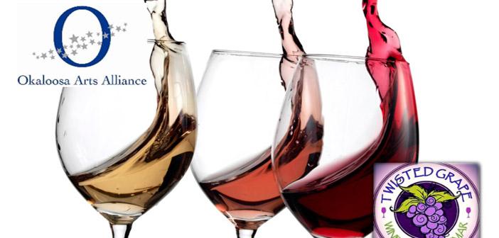 okaloosa arts wine tasting