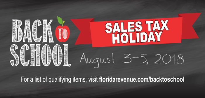 niceville florida school sales tax holiday 2018