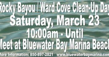 rocky bayou ward cove cleanup day 2019 bluewater bay