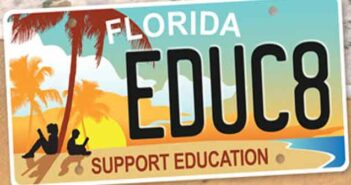 support education fl license plate tag