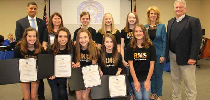 Ruckel MS Majorettes Recognized as TwirlMania International Champions
