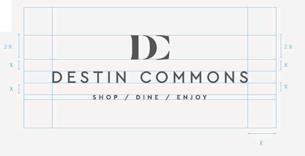 destin commons new logo sign