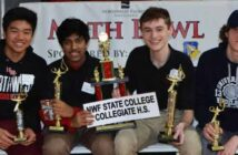 NWF State College Collegiate High Math Bowl winners 2019