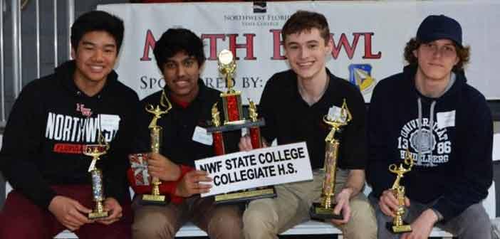 NWF State College Collegiate High Math Bowl winners 2019