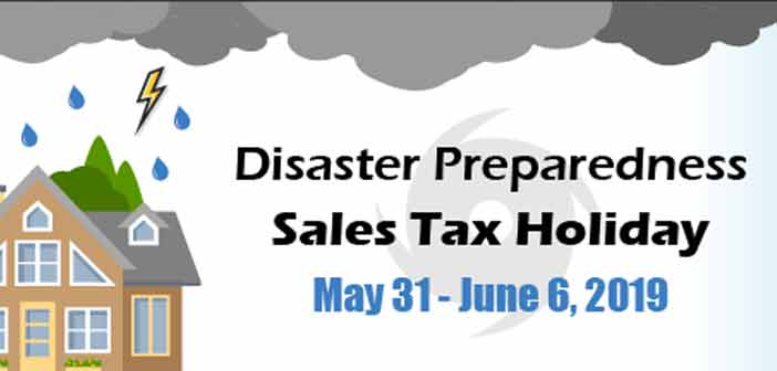 hurricane sales tax holiday 2019
