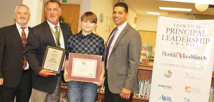 Mike Fantaski, Lewis School Principal, Recognized by Florida TaxWatch