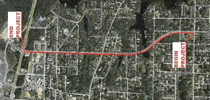 Redwood ave. niceville sidewalk project route