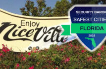 safe city logo, niceville sign
