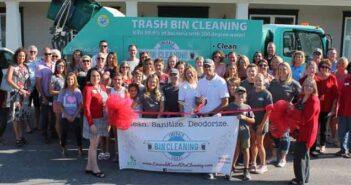 Emerald Coast Bin Cleaning ribbon cutting ceremony at chamber of commerce niceville
