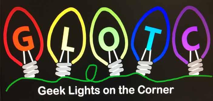 geek lights on the corner logo