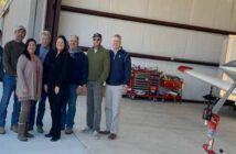 ruckel airport new hanger with ruckel properties staff, contractor