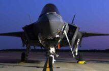 eglin air force base f-35 on tarmac at night