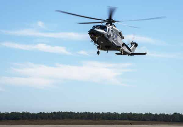 eglin air force base mh-139A grey wolf helicopter landing