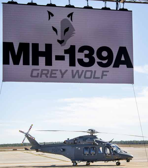 mh-139A grey wolf helicopter at Duke Field, Eglin Air Force Base. Fla.