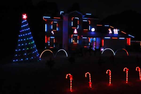 Troon Goon Christmas Light Show display