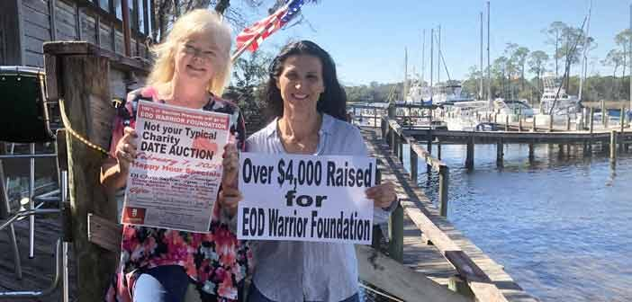 charity date auction 2020 check presentation niceville florida eod warrior foundation