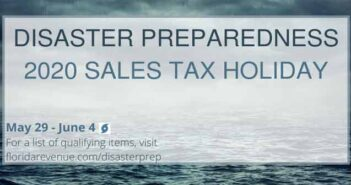 florida 2020 disaster sales tax holiday hurricane