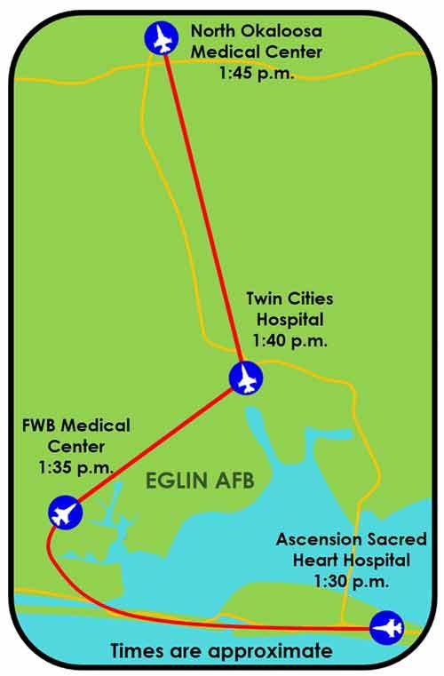 eafb flyover okaloosa county hospitals and medical facilities eglin air force base