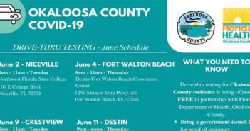okaloosa county covid-19 testing schedule june 2020 florida