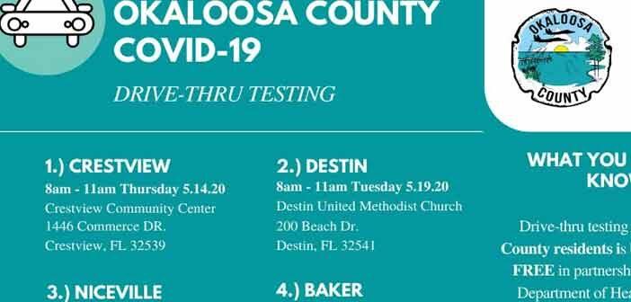niceville okaloosa county covid-19 coronavirus testing may june niceville, destin, crestview, baker, fort walton beach