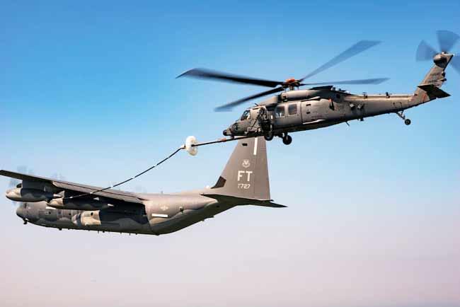 eafb eglin air force base jolly green 11 HH-60W refueling in air HC-130J tanker aerial