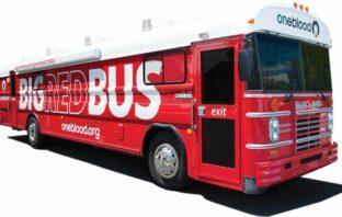oneblood big red bus blood drive niceville