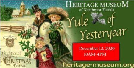 heritage museum of northwest florida yule of yesteryear 2020 valparaiso fl