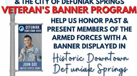 Veteran's Banner Program DeFuniak Springs main street